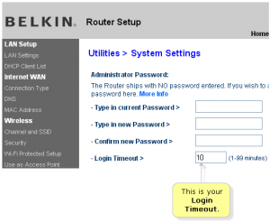belkin router admin password
